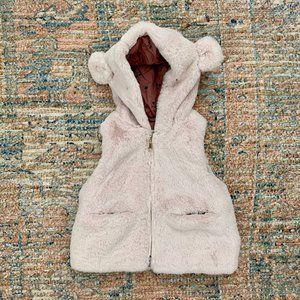 Zara Faux Fur Vest with Bear Ear Hood | 6-9m